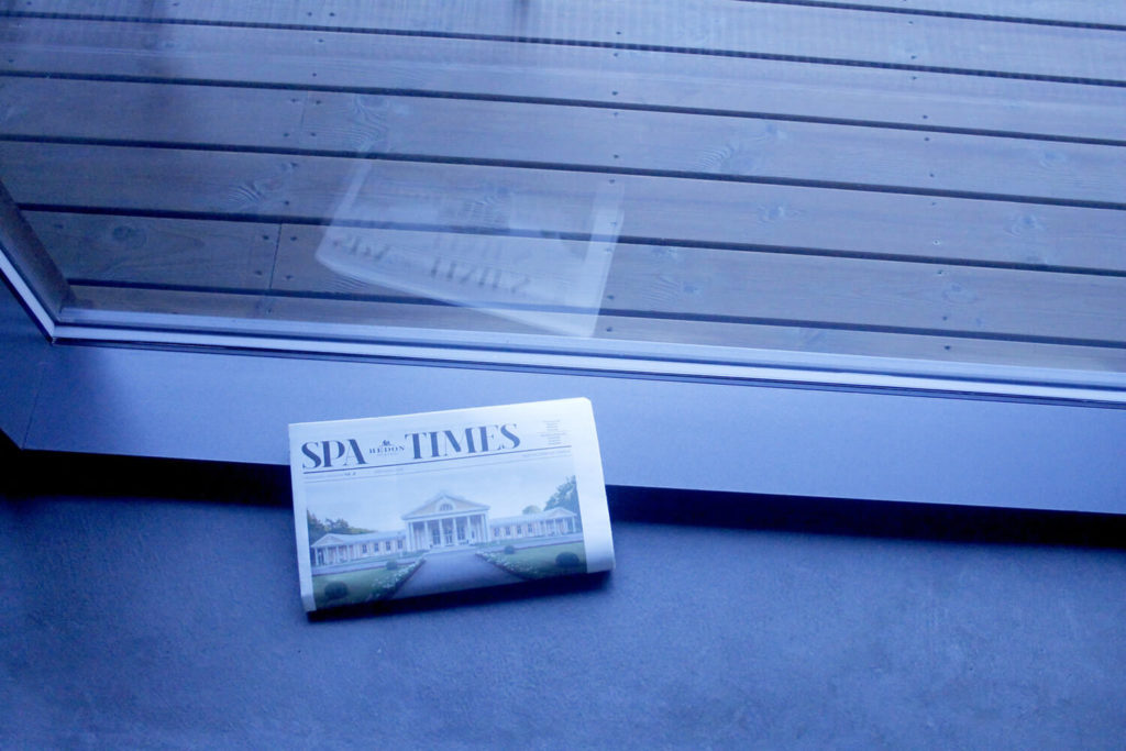 "Mudu portfolio. Hedon Spa&Hotel ajaleht ""Spa Times"""